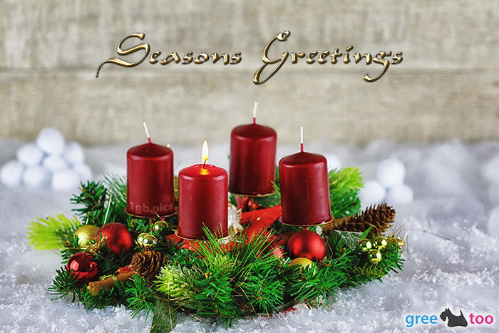Adventskranz Rot 1 Seasons Greetings Bild - 1gb.pics