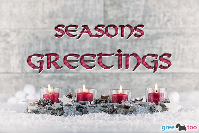 Adventskerzen 4 Seasons Greetings Bild - 1gb.pics