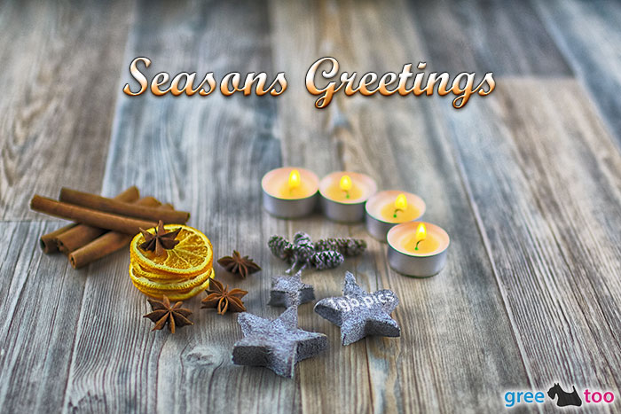 Advents Teelicht 4 Seasons Greetings Bild - 1gb.pics
