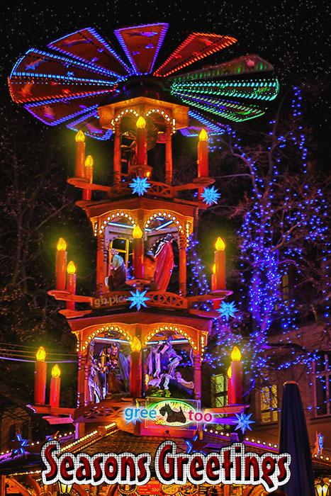 Weihnachtspyramide Seasons Greetings Bild - 1gb.pics