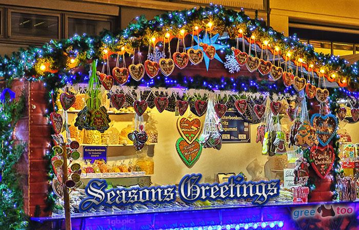Weihnachtsmarktbude Seasons Greetings Bild - 1gb.pics