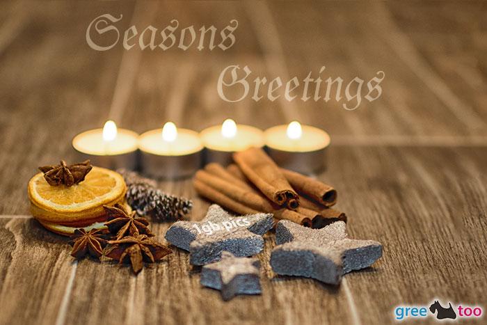 Advent Teelichter 4 Seasons Greetings Bild - 1gb.pics