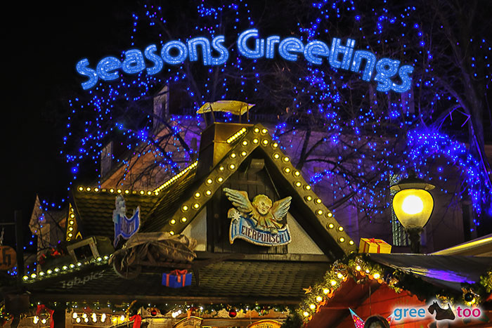 Weihnachtsmarkt Seasons Greetings Bild - 1gb.pics