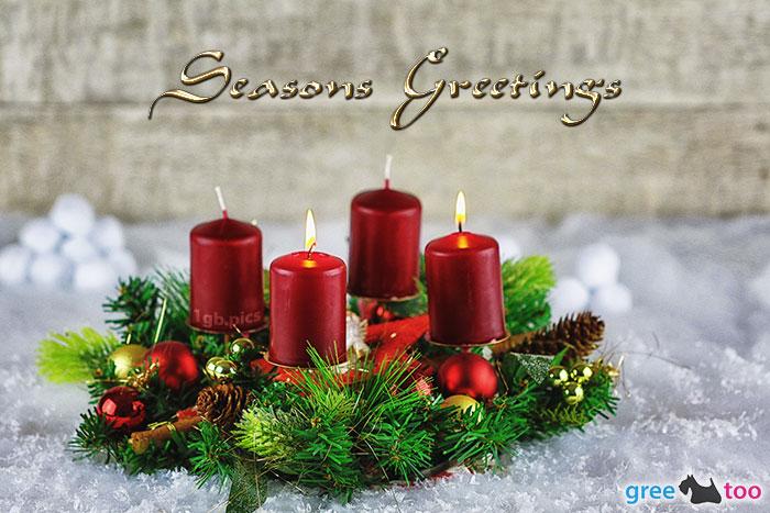 Adventskranz Rot 2 Seasons Greetings Bild - 1gb.pics