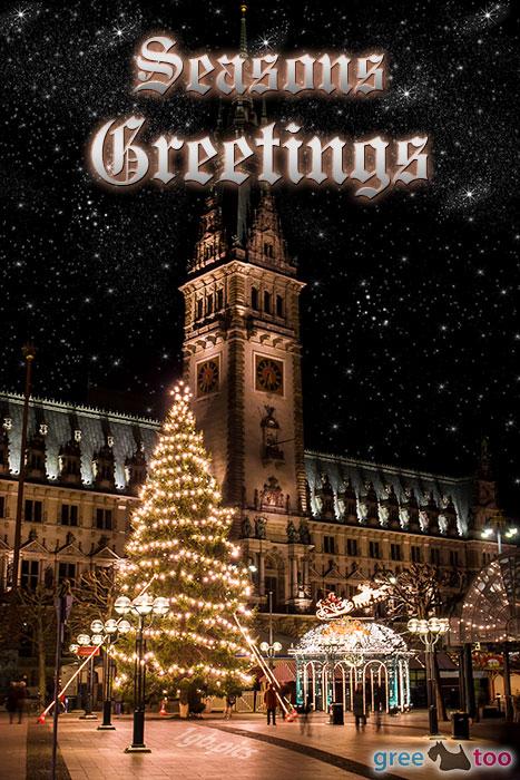 Weihnachtsrathaus Seasons Greetings Bild - 1gb.pics