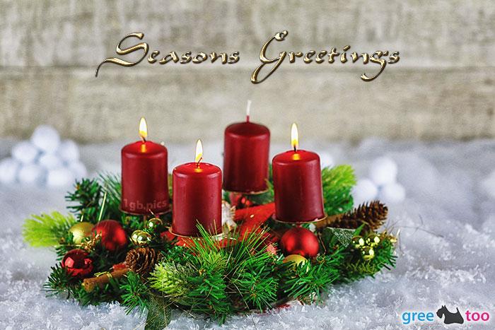 Adventskranz Rot 3 Seasons Greetings Bild - 1gb.pics