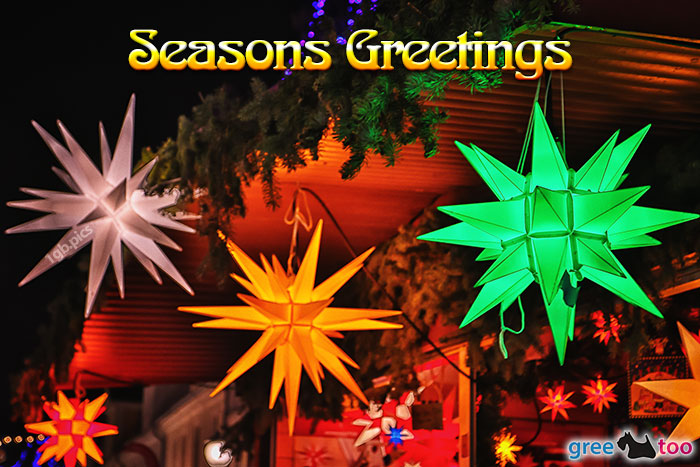 Weihnachtssterne Seasons Greetings Bild - 1gb.pics