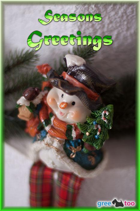 Schneemann Seasons Greetings Bild - 1gb.pics