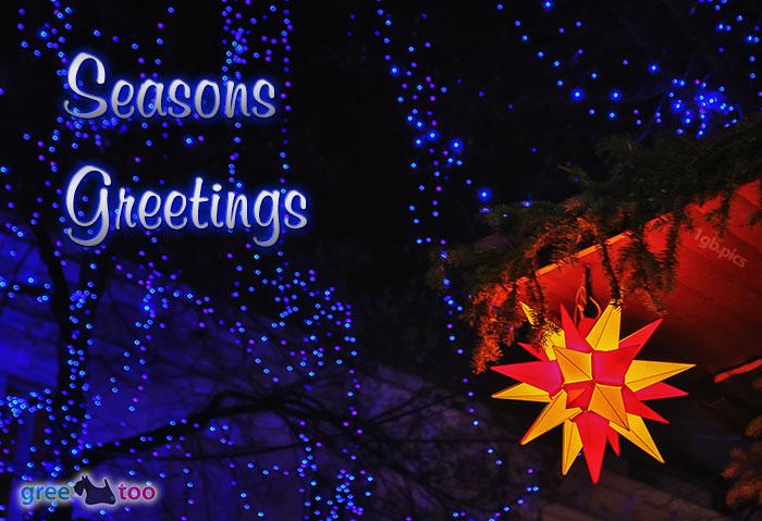 Stern Lichter Seasons Greetings Bild - 1gb.pics
