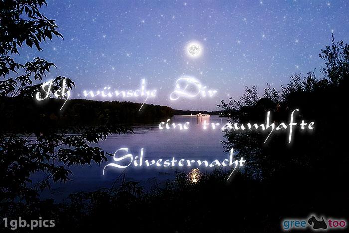 Mond Fluss Eine Traumhafte Silvesternacht Bild - 1gb.pics