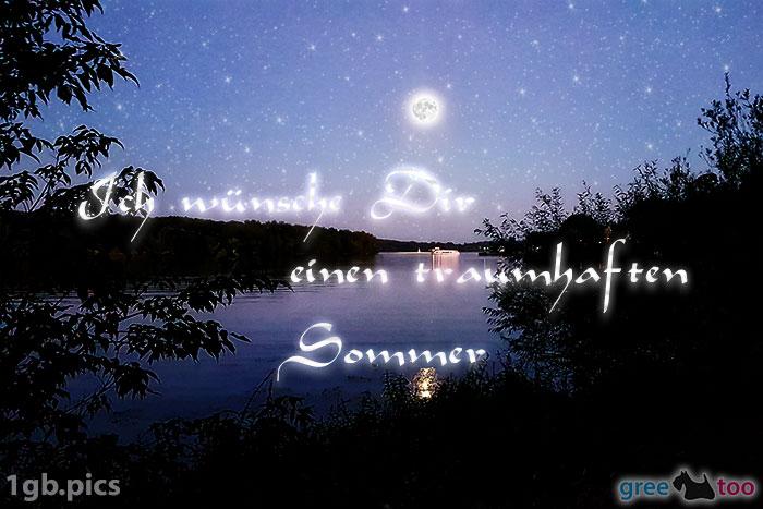 Mond Fluss Einen Traumhaften Sommer Bild - 1gb.pics
