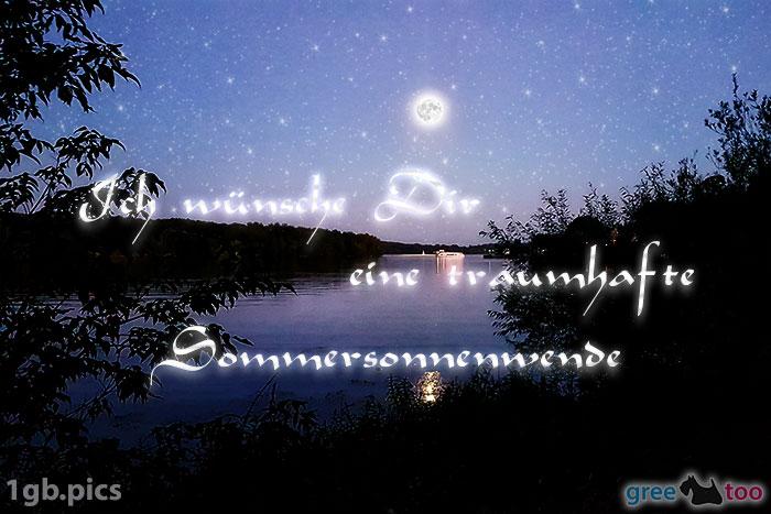 Mond Fluss Eine Traumhafte Sommersonnenwende Bild - 1gb.pics