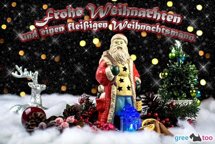 Frohe Weihnachten Fleissigen Weihnachtsmann Bild - 1gb.pics