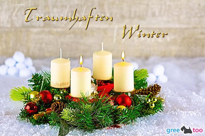 Adventskranz Beige 2 Traumhaften Winter Bild - 1gb.pics