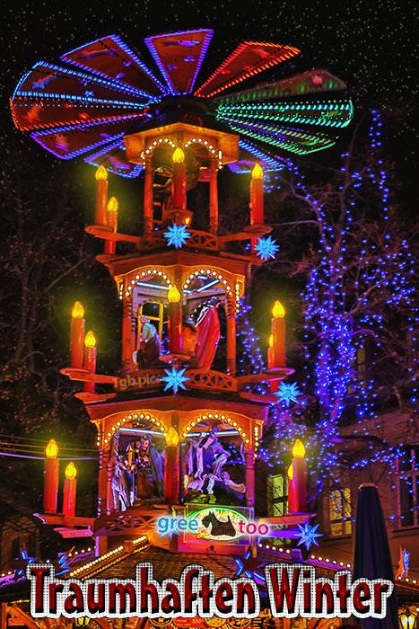 Weihnachtspyramide Traumhaften Winter Bild - 1gb.pics