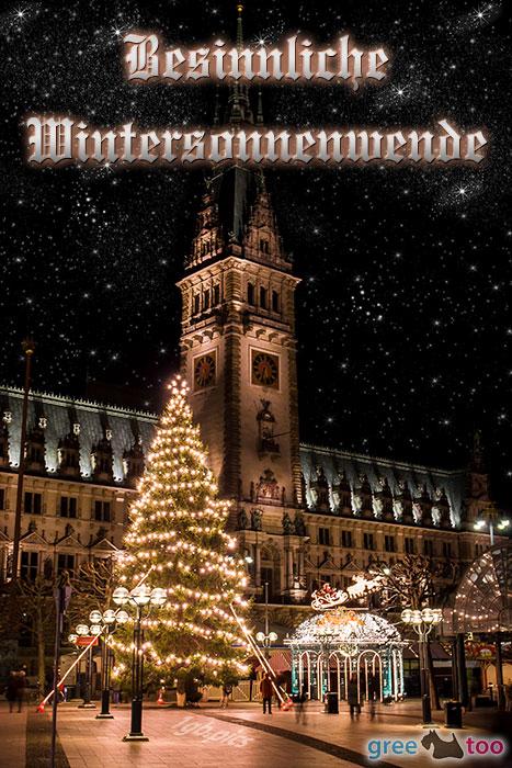 Weihnachtsrathaus Besinnliche Wintersonnenwende Bild - 1gb.pics