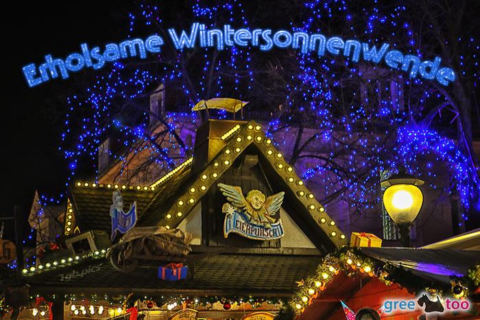 Weihnachtsmarkt Erholsame Wintersonnenwende Bild - 1gb.pics