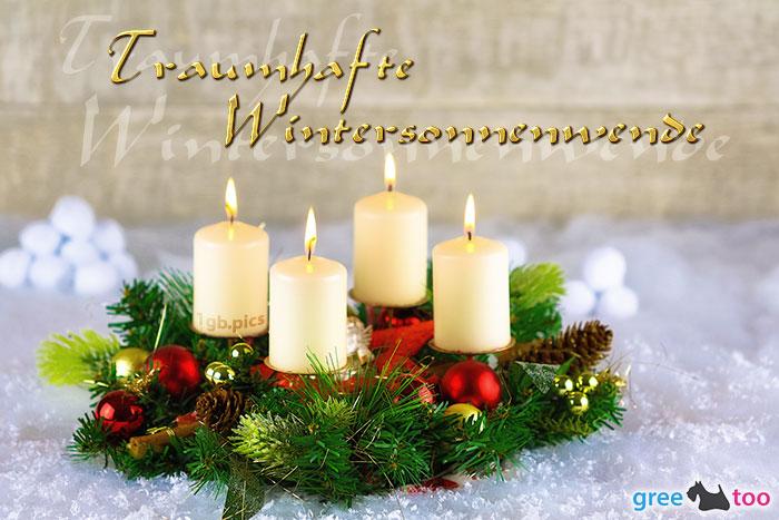 Adventskranz Beige 4 Traumhafte Wintersonnenwende Bild - 1gb.pics
