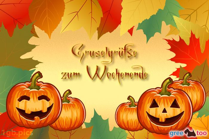 Herbstblaetter Kuerbis Gruselgruesse Zum Wochenende Bild - 1gb.pics