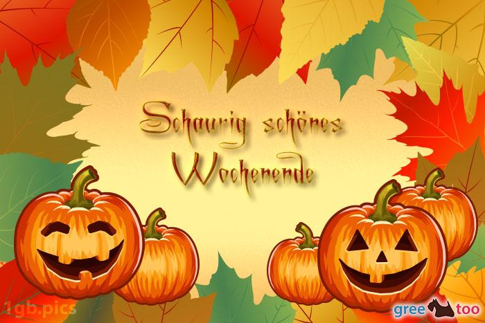 Herbstblaetter Kuerbis Schaurig Schoenes Wochenende Bild - 1gb.pics