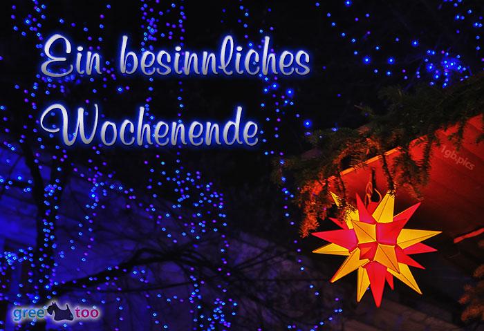 Stern Lichter Besinnliches Wochenende Bild - 1gb.pics