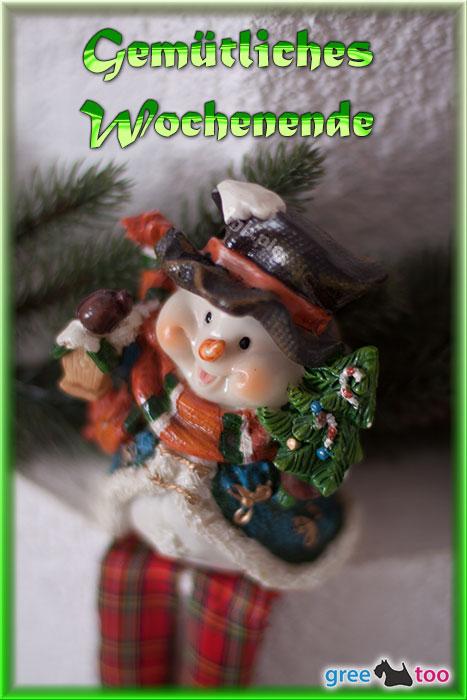 Schneemann Gemuetliches Wochenende Bild - 1gb.pics