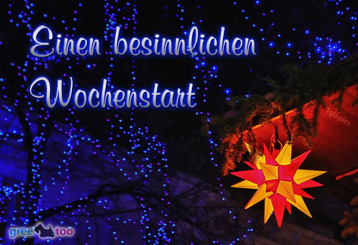 Stern Lichter Besinnlichen Wochenstart Bild - 1gb.pics