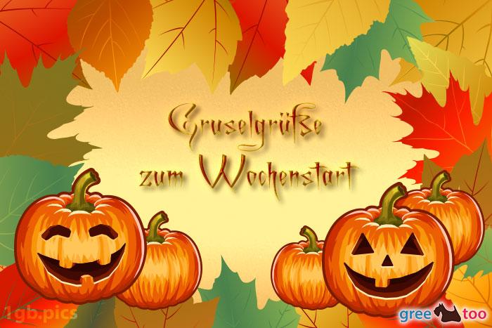 Herbstblaetter Kuerbis Gruselgruesse Zum Wochenstart Bild - 1gb.pics