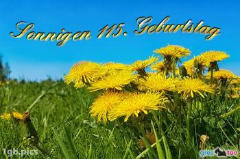 115. Geburtstag Bilder