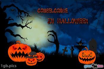 Gruselgrüße zu Halloween Bilder