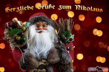 Herzliche Grüße zum Nikolaus Bilder